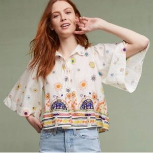 Maeve Anthropologie Eliot Popover Blouse NWT